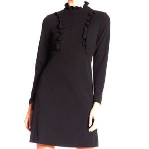 🖤 Sharagano ruffled mock neck l/s mod dress 4